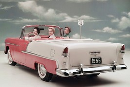 1955 CHEVY BEL AIR FACTORY PHOTO 24 x 36 INCH POSTER, man cave, garage, ... - $17.99