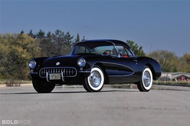 1956 CHEVY CORVETTE POSTER 24 X 36 INCH man cave decor, garage, - $18.99