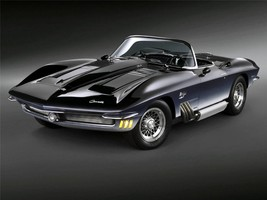 1962 CHEVY CORVETTE POSTER CONCEPT 24  X  36 INCH man cave decor, garage, - $18.99