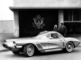 1958 CHEVY CORVETTE POSTER CONCEPT 24  X  36 INCH man cave decor, garage, - $18.99