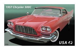 1957 CHRYSLER 300C POSTER 24 X 36 INCH man cave decor, garage, wall art,... - $18.99
