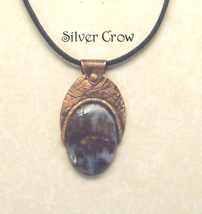 Copper & Red Moss Agate Pendant Necklace - $22.99
