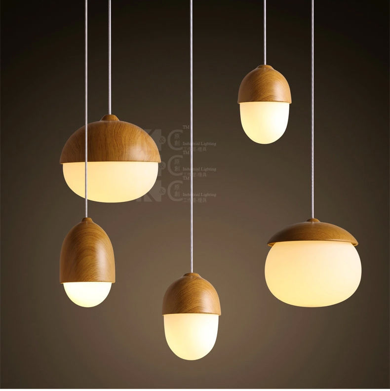 Primary image for Novelty Glass Bubble Ceiling Lamp Grain DIY E27 Light Cute Nut Hanging Pendant