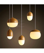 Novelty Glass Bubble Ceiling Lamp Grain DIY E27 Light Cute Nut Hanging P... - $83.85+