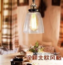 Retro Clear Glass Barn Light Cloche Pendant Bronze Finish Ceiling Lamp E27 Light - $38.52