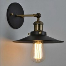 Restoration Retro 20th C. Factory Filament Metal Sconce - Aged Steel Wall Lamp - $66.75