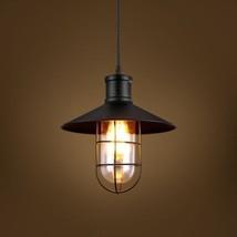 New Harbor Caged Glass Pendant Ceiling Lamp Restoration Light Chandelier Loft - $67.61