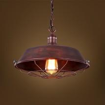 Vintage Cast Iron Ceiling Lamp Restoration Loft E27 Light Barn Cage Pendant - $44.28+