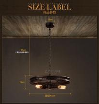 Steampunk Wheel Pendant Triple E27 Light Pendant Ceiling Lamp Industrial Lightin - $119.65+