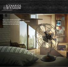 Industrial Steampunk Table Desk Lamp 5 Bulb Fan Style E27 Light Lighting... - $181.30