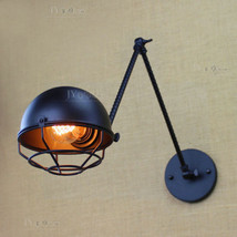 Loft DIY Industrial Metal Cover Wall Sconce Retro Spiral Swing arm Wall ... - $88.15