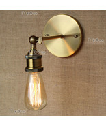 20th C. Factory Filament Bare Bulb Sconce Restoration Wall Lamp E27 Light - $38.65+