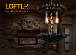 Steampunnk Gear & Pipe Pendant Chandelier Triple E27 Light Ceiling Lamp Lighting - $222.35