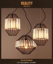 Modern Birdcage Ceiling Lamp Fixture E27 Light Crystal  Cage Pendant Chandelier - $92.66+