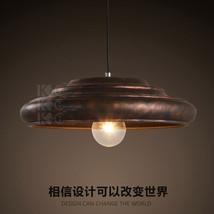 Vintage Antiqued Ceiling Lamp Barn Loft E27 Hanging Light Layer Rustic Pendant - $114.91