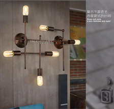 Steampunk Geometric Wallmount Lamp E27 Light Edison Antique Rust Wall Sc... - $136.17