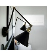 20th C. Library Swing Arm Wall Lamp Sconce E27 Light Ambient Lighting - $64.53