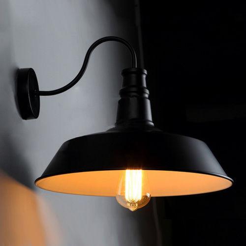 Idustrial Edison Gooseneck Barn Wall Lamp Single Sconce E27 Light Home Lighting - $54.76 - $64.67