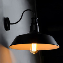 Idustrial Edison Gooseneck Barn Wall Lamp Single Sconce E27 Light Home L... - $54.76+