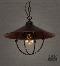 """Vintage Antiqued Rustic Ceiling Lamp Hanging E27 Light Barn Cage Pendant 14.9"""" - $126.37"""