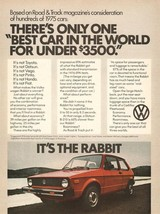 1976 VW RABBIT POSTER AD 24 X 36 INCH man cave decor, garage, wall art, - $18.99