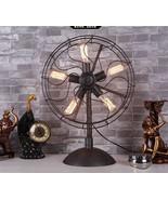 Industrial 5 Bulb Matte Italian Fan Style Steampunk Black Table / Desk Lamp - $224.37