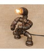 Industrial Male Robot Steampunk Table Desk Lamp Lighting Fixture E27 Light - $86.75