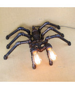 Novelty Machine Age Pipe Steampunk Spider Double Light Retr Table / Desk... - $243.97