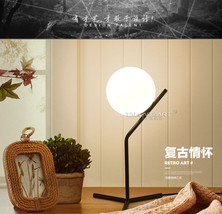 Modern Glass Bubble Table Desk Lamp E27 Light Cafe Lighting Fixture Reading - $75.47