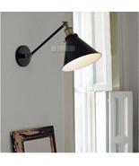 20TH C. Library Adjustable Light Sconce - Matte Black Light Rstoration W... - $74.49