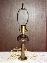 Antique Marble Brass TABLE DESK BOUDOIR LAMP w ... - $14.84