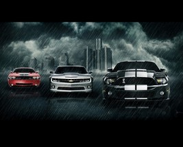 2011 DODGE CHALLENGER | CHEVY CAMARO | FOR MUSTANG 24X36 POSTER wall decor - $18.99