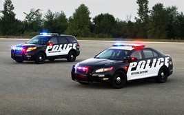 2011 FORD POLICE INTERCEPTOR 18X24  24 X 36 INCH POSTER, police car, man... - $18.99
