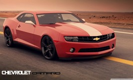 "2012 CHEVY CAMARO IN DESERT 24""X36"" POSTER, man cave, garage, wall decor - $18.99"
