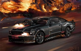 2012 FORD MUSTANG ART POSTER 24 X 36 INCH man cave decor, garage, art, guns - $18.99