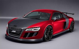 2013 ABT AUDI R8 GTR POSTER 24 X 36 INCH lighter, sports car, man cave decor - $18.99