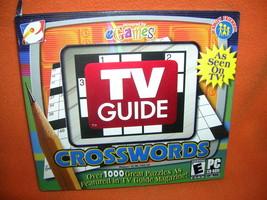 eGames TV Guide Crosswords Puzzles PC CD-Rom  UPC:743999132603 - $8.91