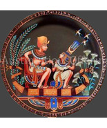 Bradford Exchange Tutankhamun And His Princess collector Plate - $34.99