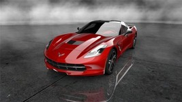 2014 CORVETTE STINGRAY POSTER RED 24 X 36 INCH man cave, wall art, garage - $18.99