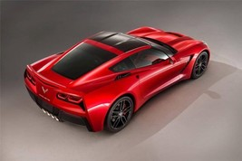 2014 CORVETTE STINGRAY POSTER AERIAL 24 X 36 INCH man cave, wall art, ga... - $18.99