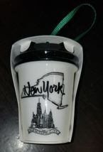 "STARBUCKS US CERAMIC ORNAMENT ""LOCAL NEW YORK"" UPSTATE NY 2017 CHRISTMAS... - $12.99"