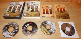 Age of Empires III Microsoft PC Game 2005 3 Disc Set with Bonus Game & M... - $29.01