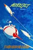 Disneyland Astro Jets  Poster 24 X 36 Inch Wall Art, Decor, Man Cave, Mickey - $18.99