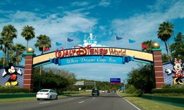 Disney World Entrance 24 X36 Inch Large Poster Mickey Mouse, Disneyland - $18.99