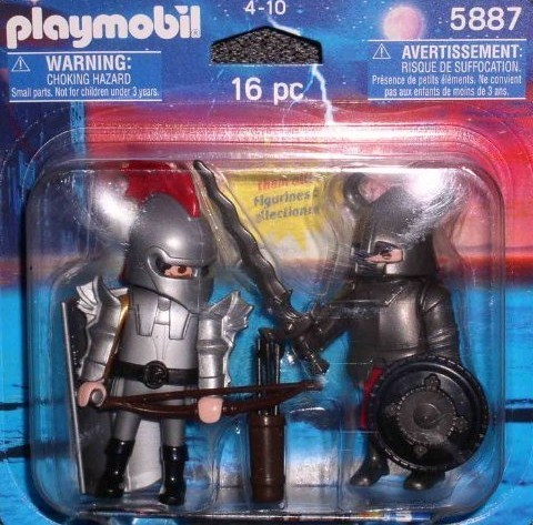 Playmobil Iron Knights 16 piece Set 5887 two pack