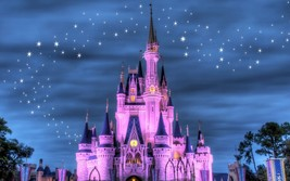 Disneyland Castle At Dusk 24 X36 Inch Large Poster Mickey Mouse, Disney World - $18.99