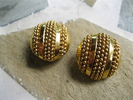 Joan Rivers Goldtone Clip on Earrings. Retired QVC  - $13.00