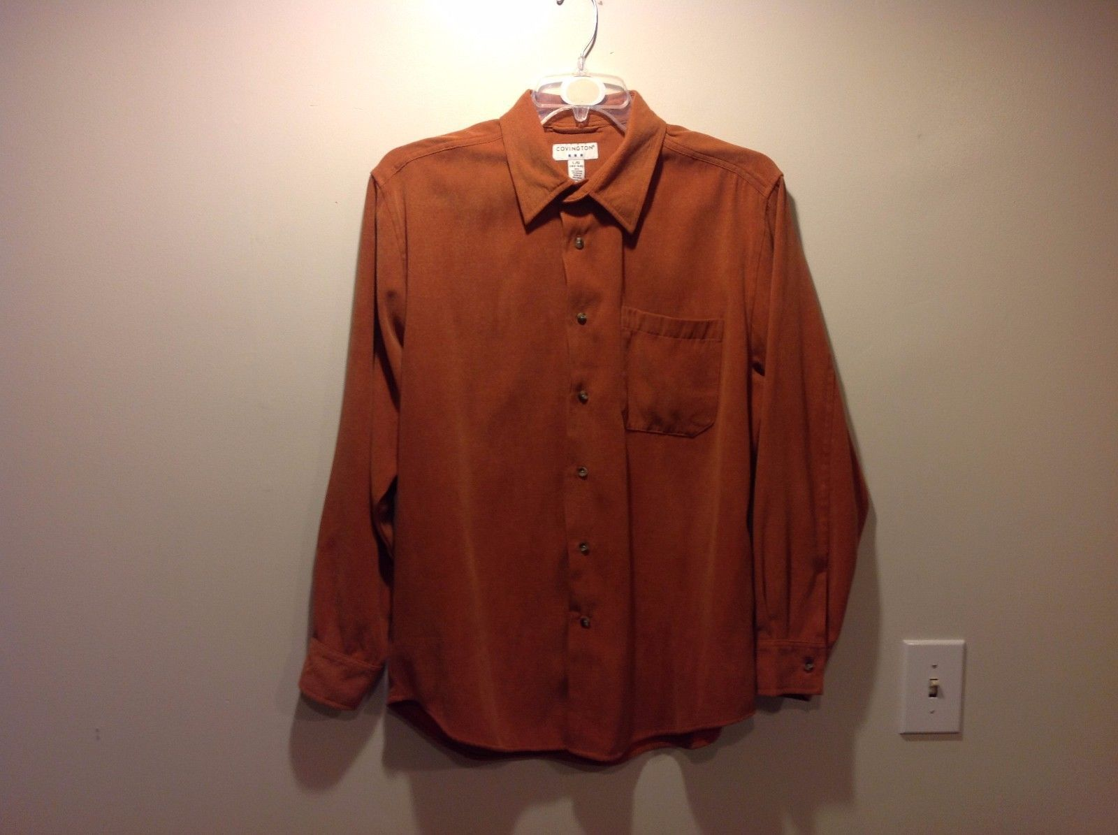 Used Great Condition Covington Burnt Orange Large 42-44 Collared Button Up Shirt
