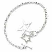 Sterling Silver Fancy Stars Bracelet, Best Quality Free Gift Box Satisfa... - $47.48