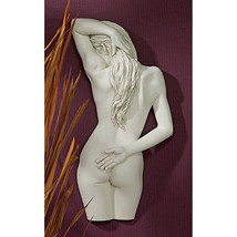 "27"" Sweet Submission Nude Female Form Antique Stone Finish Wall Sculpture - $183.15"